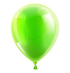 green birthday or party balloon vector image