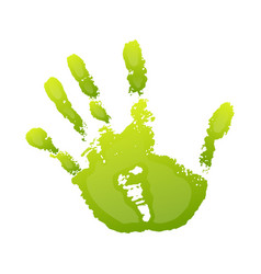 Hand paint print 3d isolated white background vector