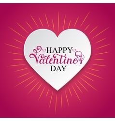 Happy Valentine s day inscription vector image