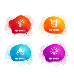 idea settings blueprint and water splash icons vector image