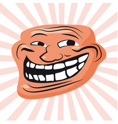 internet troll meme character face internet vector image