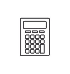 Isolated calculator design vector