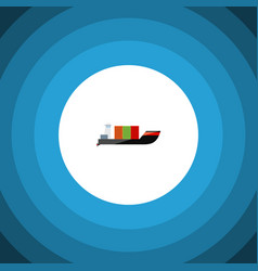 isolated cargo flat icon tanker element vector image