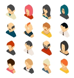 Isometric Colored User Icon Designs vector image
