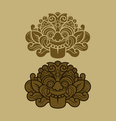 Java kalamakara ornament vector
