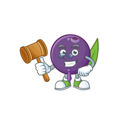 Judge acai berries character for fresh fruit vector
