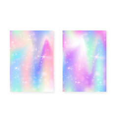 kawaii background with rainbow princess gradient vector image