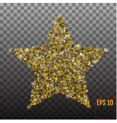 luxury gold star element for advertising poster vector image