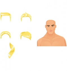 male hairstyles blond vector image