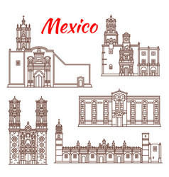 mexican travel landmark icon for tourism design vector image