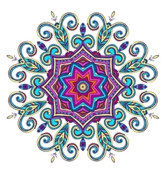 New Round Mandala-02 vector