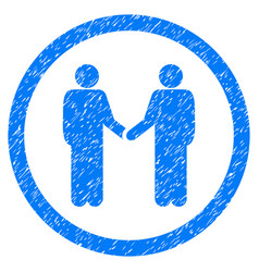 persons agreement rounded grainy icon vector image