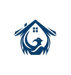 phoenix home logo design vector image