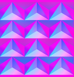 Pink triangle seamless pattern vector