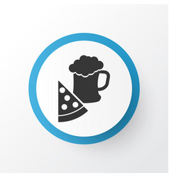 pizza with beer icon symbol premium quality vector image