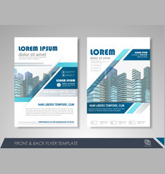 Presentation flyer design template vector