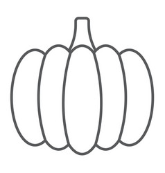 Pumpkin thin line icon vegetable and food vector