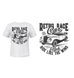 racing cars club apparel print vector image