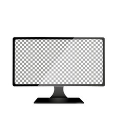 realistic computer with transparent wallpaper vector image
