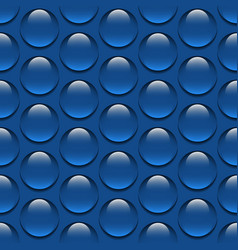 realistic glass water drops seamless pattern vector image