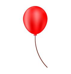 red helium balloon festive balloon vector image