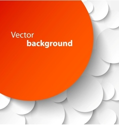 Red paper banner on circle background vector image