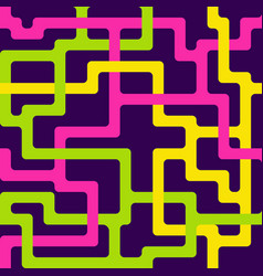 Seamless pattern with interlacing colorful lines vector