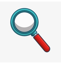 Search magnifying glass icon vector