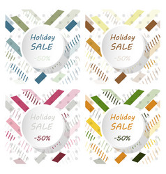 Set of holiday sale calligraphy calligraphic vector