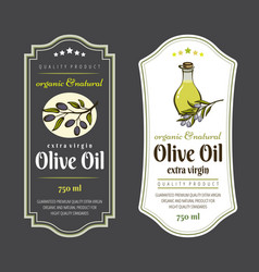 set of labels for olive oils elegant design for vector image
