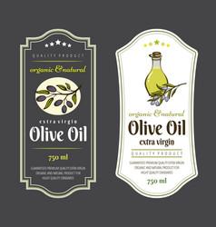 set of labels for olive oils elegant design for vector image