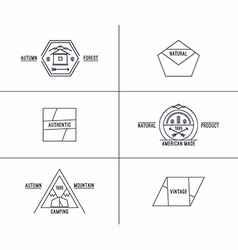 Set of retro vintage badges vector image