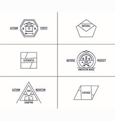 Set retro vintage badges vector