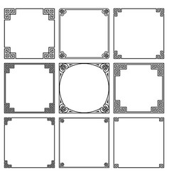 set square frames old greek ornament vector image
