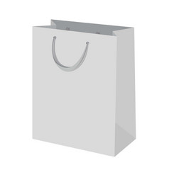 shopping bag mockup realistic style vector image