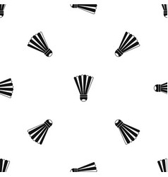 Shuttlecock pattern seamless black vector
