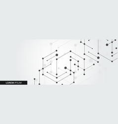 simple technology graphic background vector image