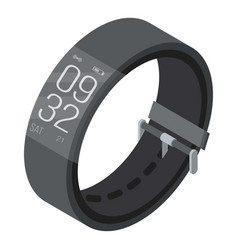 Smart wrist band icon isometric style vector