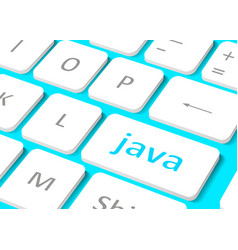 Software concept button java on computer keyboard vector