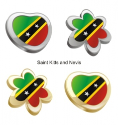 St Kitts and Nevis vector image