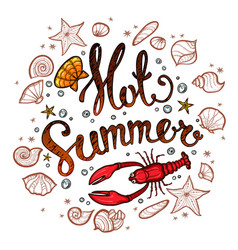 Summer time banner for promotion poster vector