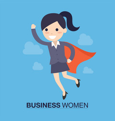 super business woman vector image