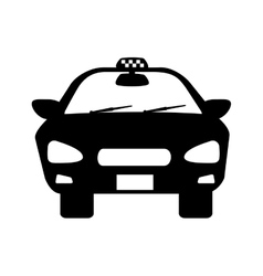 Taxi cab car vehicle vector