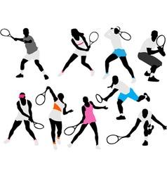 tennis players vs vector image