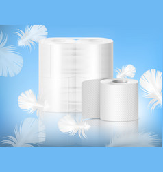 Toilet paper realistic composition vector