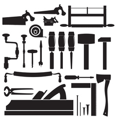 Tools carpenter set vector