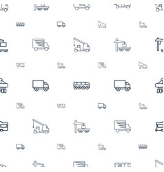 Trailer icons pattern seamless white background vector