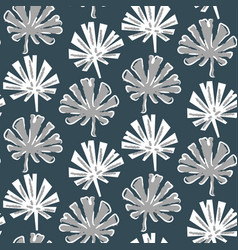 tropical monstera leaves seamless pattern vector image