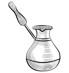 turkish cezve pot coffee making container vector image
