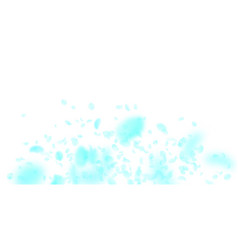 turquoise flower petals falling down bold romanti vector image